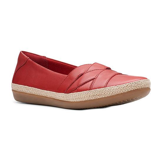 Clarks Womens Danelly Shine Round Toe Slip-On Shoe
