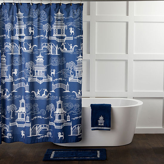 Saturday Knight Vern Yip Chinoiserie Shower Curtain