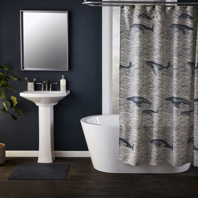Saturday Knight Vern Yip Whale Waves Shower Curtain