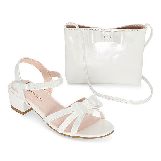 Christie & Jill Big Kids Girls Odette & Bag Heeled Sandals