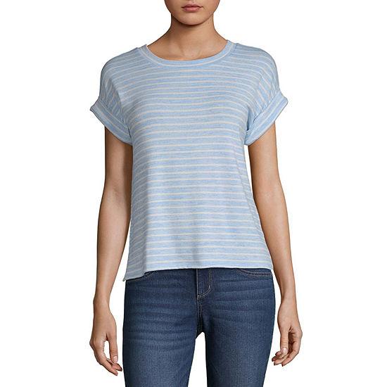 a.n.a-Womens Crew Neck Short Sleeve T-Shirt
