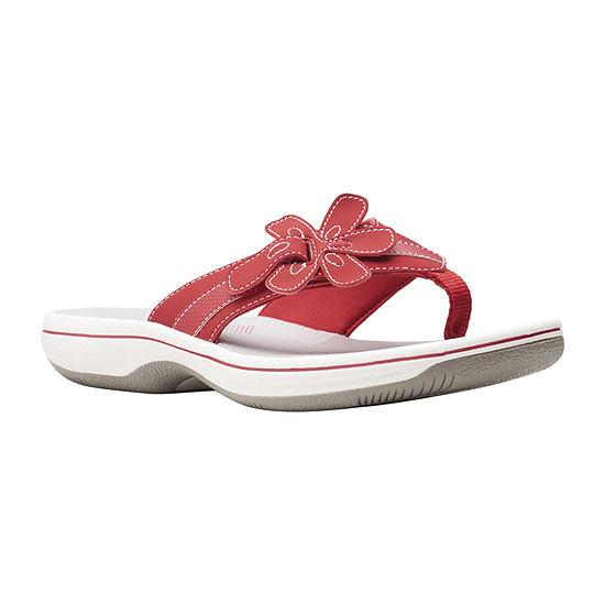 Clarks Womens Brinkley Flora Flip-Flops