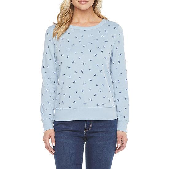 a.n.a. Womens Crew Neck Long Sleeve Sweatshirt