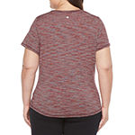 Xersion Womens V Neck Short Sleeve T-Shirt Plus