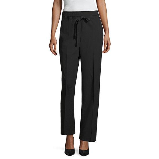 Worthington Womens Straight Pull-On Pants