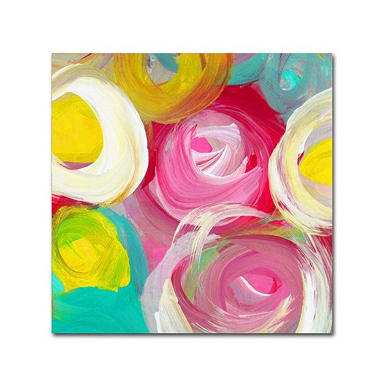 Trademark Fine Art Amy Vangsgard Rose Garden Circles Square 2 Giclee Canvas Art
