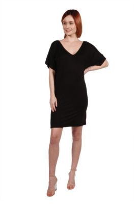 24/7 Comfort Apparel Irresistible Black Party Dress - Plus