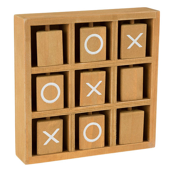 Hey! Play! Tic-Tac-Toe Wooden Travel Game