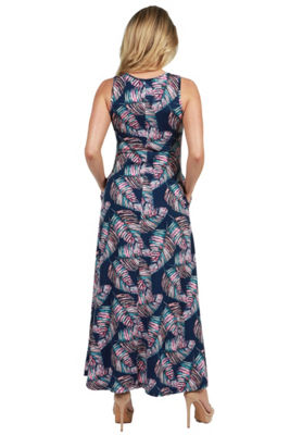 24Seven Comfort Apparel Ellyn Sleeveless Maternity Maxi Dress