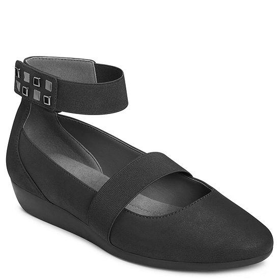 A2 By Aerosoles Womens Arcade Round Toe Slip On Ballet Flats