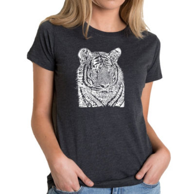 Los Angeles Pop Art Women's Premium Blend Word ArtT-shirt - Big Cats