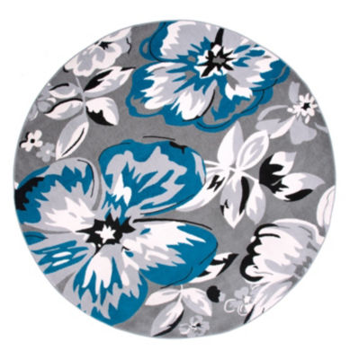 World Rug Gallery Modern Floral Circles Round Area Rug