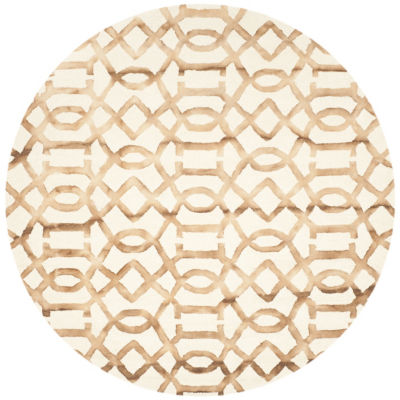 Safavieh Dip Dye Collection Diamond Geometric Round Area Rug