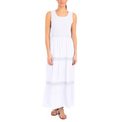 NY Collection Sleeveless Tiered Skirt Maxi Dress - Petites