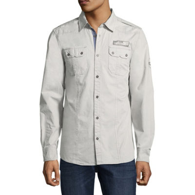 i jeans by Buffalo Mens Long Sleeve Button-Front Shirt