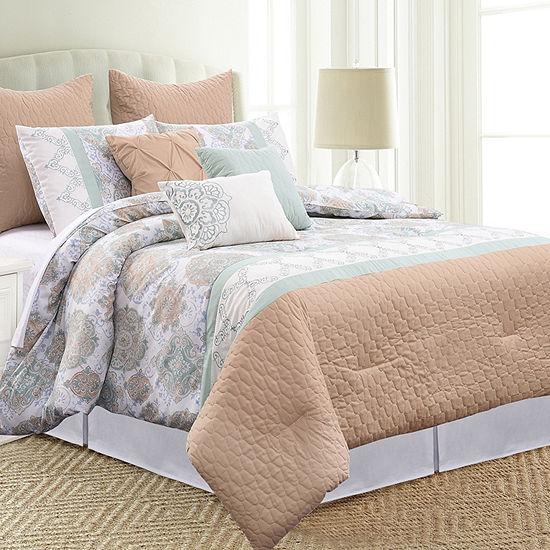 Pacific Coast Textiles 8-Piece Comforter Set Santorini