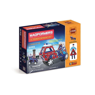 Magformers XL Cruisers Emergency 33 PC. Set
