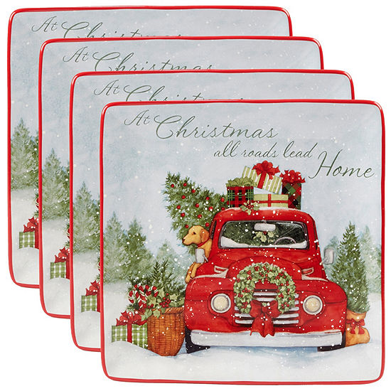 Certified International Home For Christmas 4-pc. Dinner Plate - JCPenney