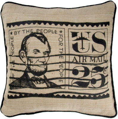 Rizzy Home David Transitional Postage Stamp Decorative Pillow
