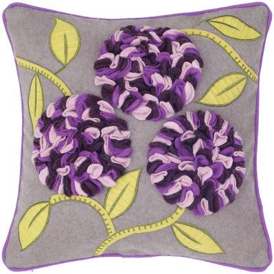 Rizzy Home Darius Floral Decorative Pillow