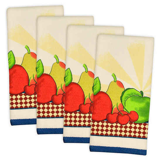 Essential Terry Fruit Dishtowel - Set of 4