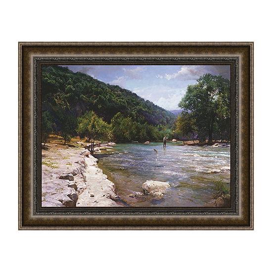 River Dance Framed Canvas Art