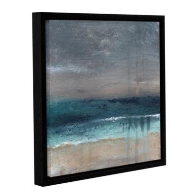 Brushstone Beach V Floater-Framed Gallery Wrapped Canvas