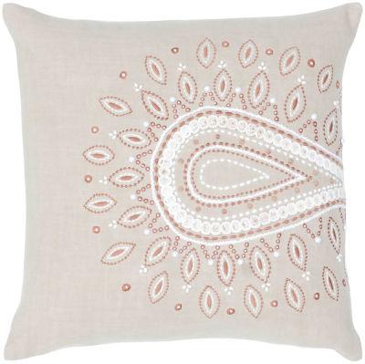 Rizzy Home Steel Geometric Decorative Pillow
