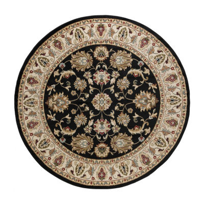 Tayse Charleston Traditional Oriental Round Area Rug