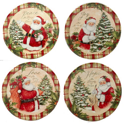 Certified International Holiday Wishes 4-pc. Appetizer Plate