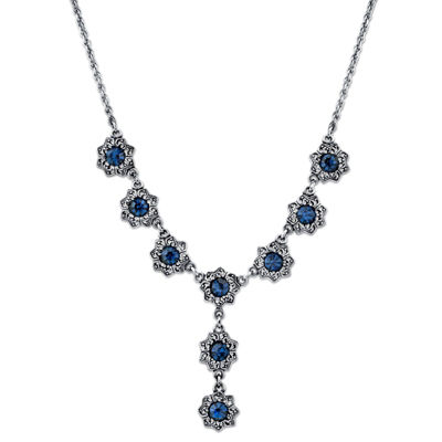 1928 Vintage Inspirations Womens Blue Y Necklace