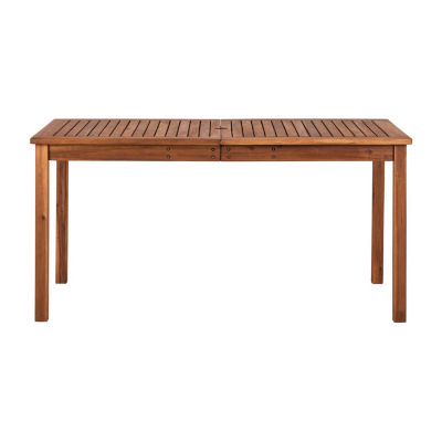 Acacia Wood Simple Patio Dining Table