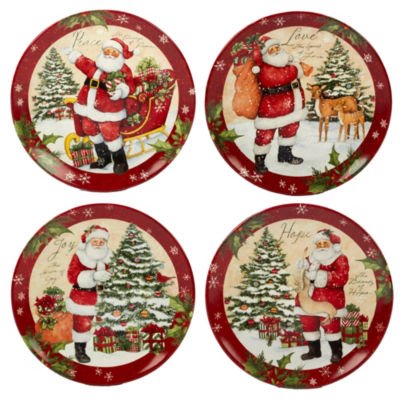 Certified International Holiday Wishes 4-pc. Dinner Plate