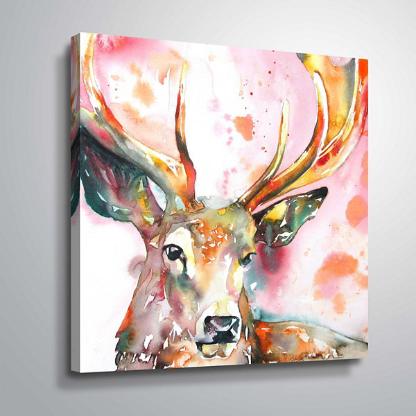 Stag II Gallery Wrapped Canvas