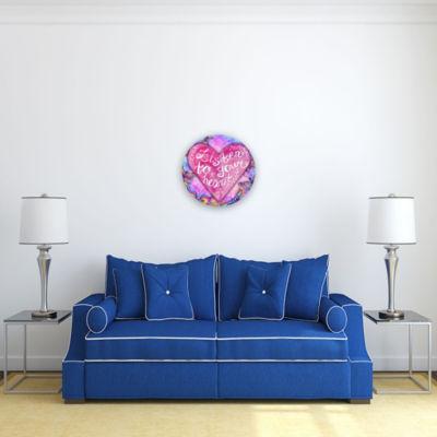 Motivational Wall Art Listen to Your Heart 16-inchRound