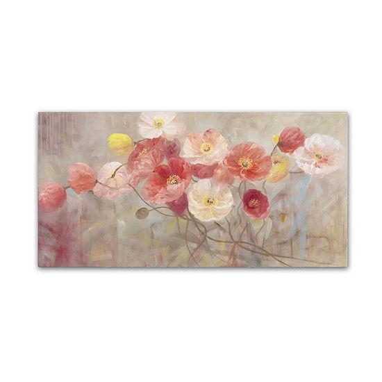 Trademark Fine Art Li Bo Wild Poppies I Giclee Canvas Art