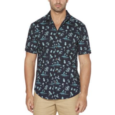 Cubavera Short Sleeve Collar Neck T-Shirt-Big and Tall