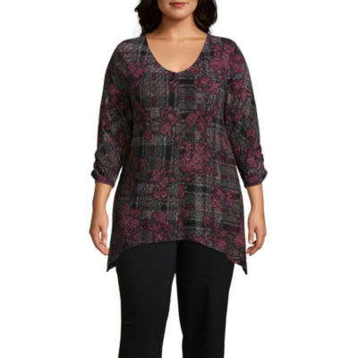 Alyx Tunic Top with Scarf - Plus
