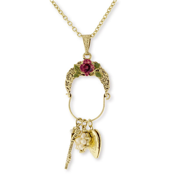 1928 vintage inspirations womens brass pendant necklace jcpenney 1928 vintage inspirations womens brass pendant necklace aloadofball Images