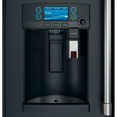 GE Café ENERGY STAR® 22.2 cu. ft. Counter-Depth French-Door Refrigerator with Keurig K-Cup Brewing System