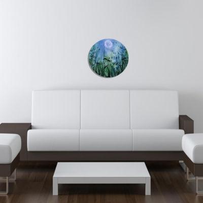 "Wall Art Decor Laguna 24"" Round"""