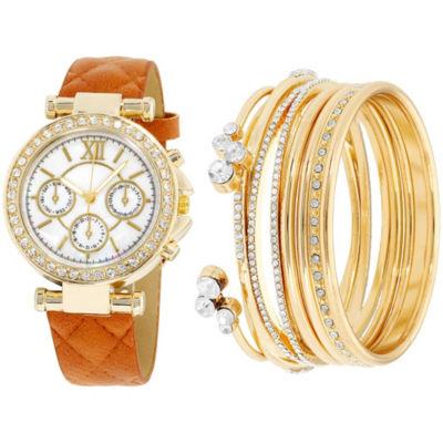 Womens Brown Bracelet Watch-St1506g695-006