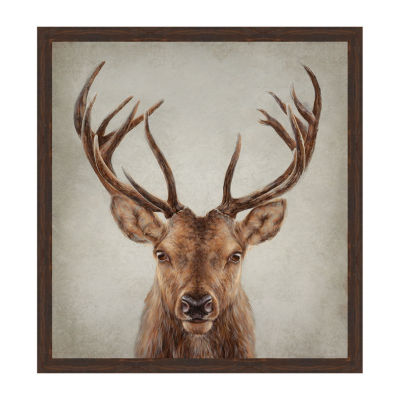 Stag Presence Framed Canvas Art