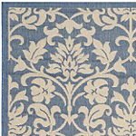 Safavieh Courtyard Collection Lyla Floral Indoor/Outdoor Square Area Rug