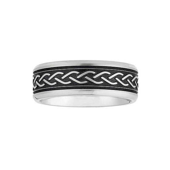 7.5MM Stainless Steel Wedding Band