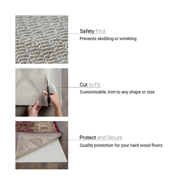 Tayse Ultra Grip Traditional Rectangular Rug Pad