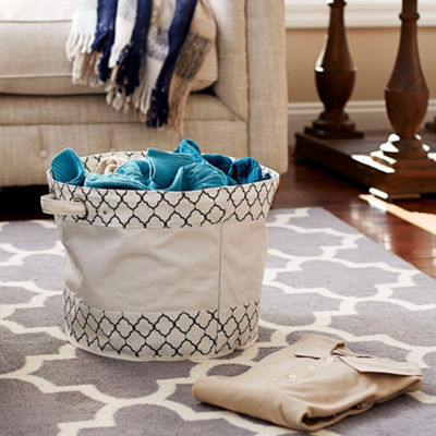 Household Essentials Round Krush Container Tote