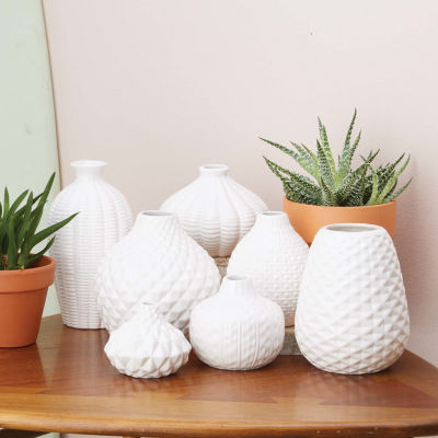 Two's Company Set Of 7 Bud Vases