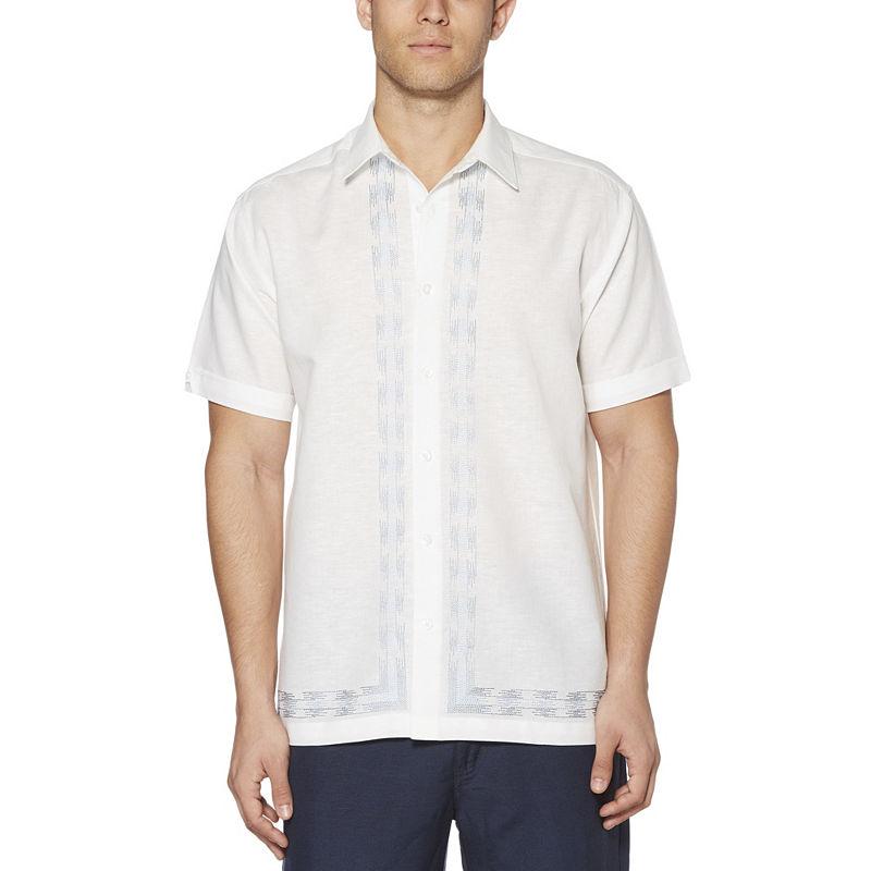 image of Cubavera Short Sleeve Pattern Button-Front Shirt-Big & Tall-ppr5007754849