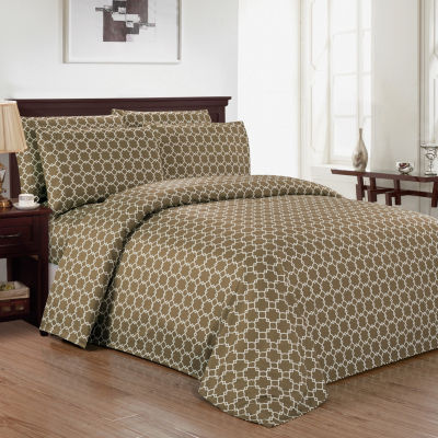 Kensie Calvin Geometric Sheet Set
